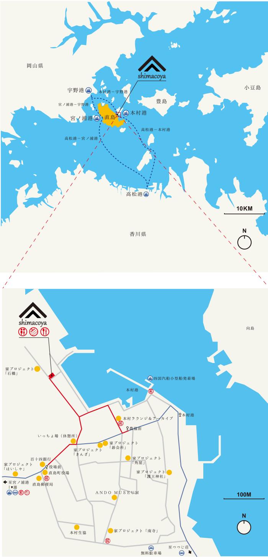 島小屋マップ