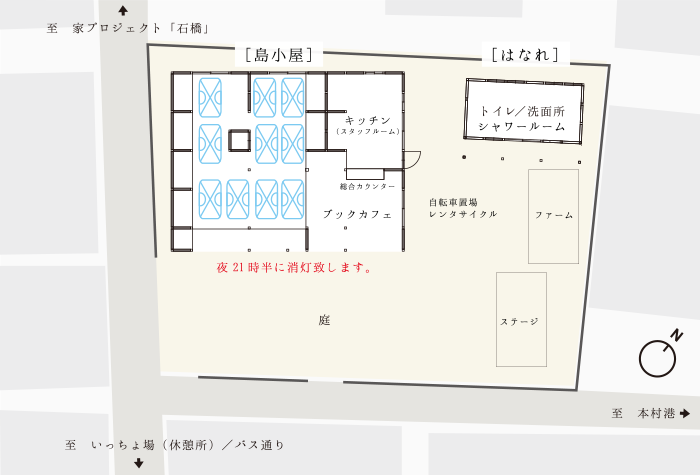 島小屋敷地配置図イメージ